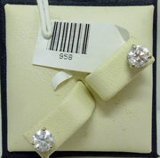 Earrings 1.2g  14K (White)  2x0.30ct I, F-G