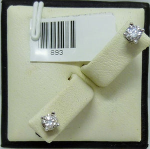 Earrings 0.99g 14K white gold 2x0.14ct RB I G-H