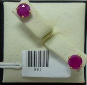 Earrings 0.9g  10K yellow gold 1.00cttw  Flux synthetic pink sapphires