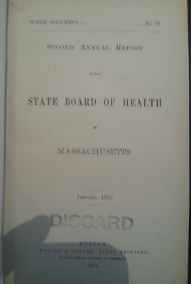 _Second Annual Report of the State Board of Health of Massachusetts_ w/ map of Boston.