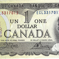 1973 $1 Note Bank of Canada