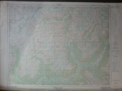 Nautical Chart / Map; Mount Argyll, B.C. 92 K/9, 1978