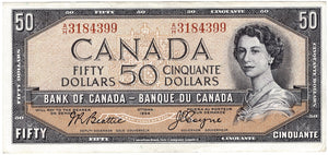 1954 $50 Note Bank of Canada - AU