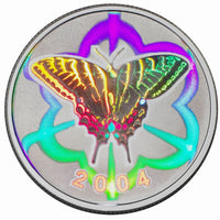 2004 50c Tiger Swallowtail Butterfly - Sterling Silver Coin