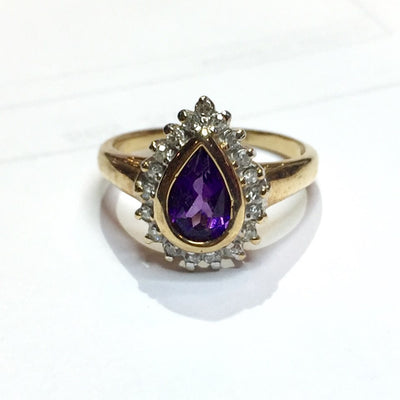 2.5g 10k Amethyst Yellow Gold Ring