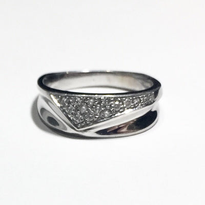 4.0g 10k White Gold Diamond Ring