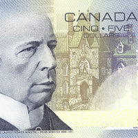 2002 $5 Note Bank of Canada - UNC