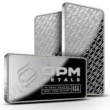 OPM SIlver 10 Troy Ounce Bar