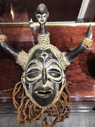 African Chokwe Witch Doctor Headhunter Mask