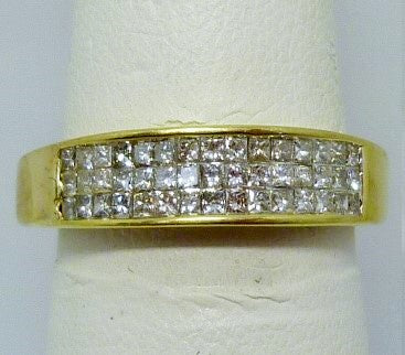 Ring 3.3g  14K yellow gold  0.50cttw I G-H princess