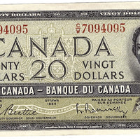 1954 $20 Note Bank of Canada - AU