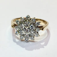 3.5g 14k Yellow Gold Cluster Diamond Ring