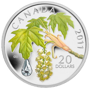 2011 $20 Maple Leaf Crystal Raindrop -