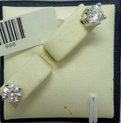 1.42g 14K white gold 2x0.37ct I G-H