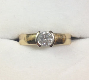 4.5g 14k .60ct SI1 G Engagement Ring