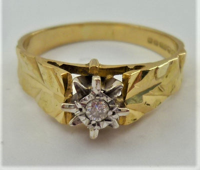 4.1g 18k Yellow Gold Vintage Diamond Ring