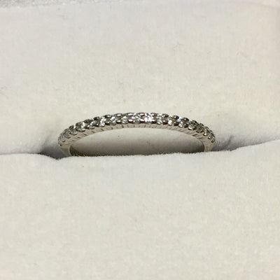 1g 10k  White gold Diamond Band