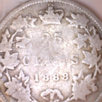 1888 Canada 25 Cents