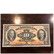 1935 The Dominion Bank 1935 $10 VF