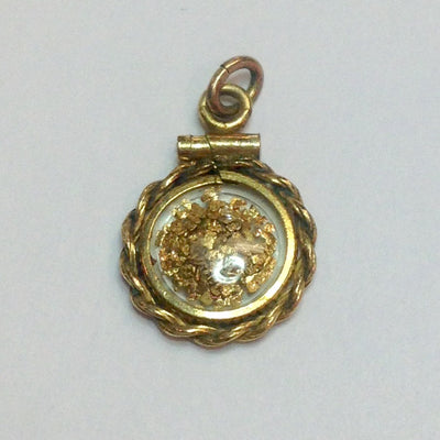 1.2g 12k Gold Nugget Pendant