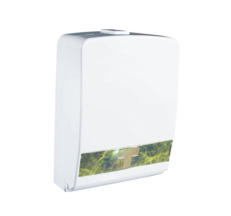 Dispensador de Toallitas Rectangulares Interdobladas Color Blanco