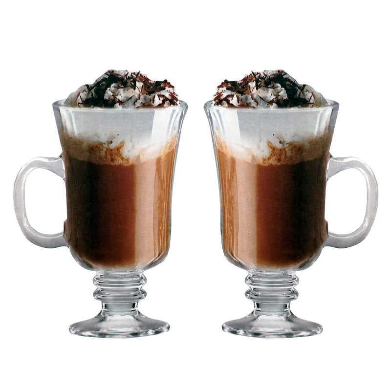 Copa Tarro Cafe Capuchino Irlandes Irish Coffee de 260 ml set de 6 piezas