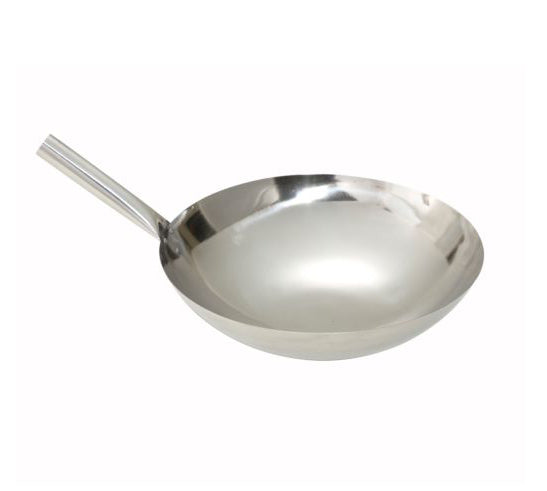 "Wok de Acero Inoxidable 14"" Winco"