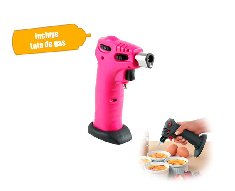 Soplete Mini Torch Flameador con Seguro para Gas