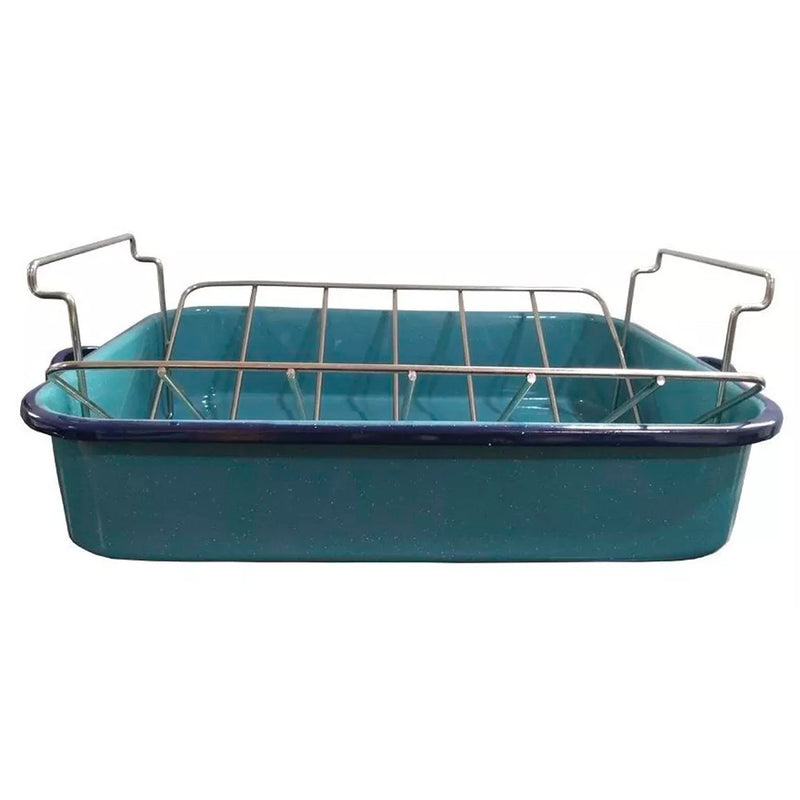 OF Linea Peltre Asador OR-16 c/Rack Azul Turquesa Hispanic Cns