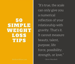 50 Simple Weight Loss Tips