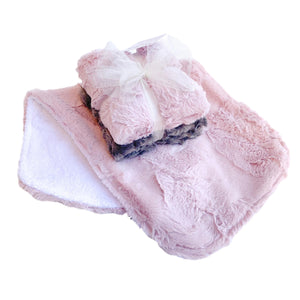 Dusty Rose Burp Cloth Set
