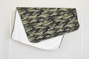 Camo Plush Swaddle