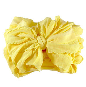 Ruffled Headband- Buttercup