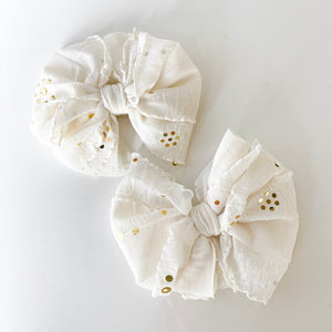 Ivory Gold Sequin Piggy Set