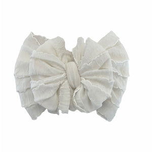 Ruffled Headband- Ivory