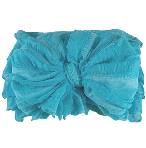 Ruffled Headband- Lagoon