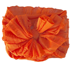 Ruffled Headband- Orange
