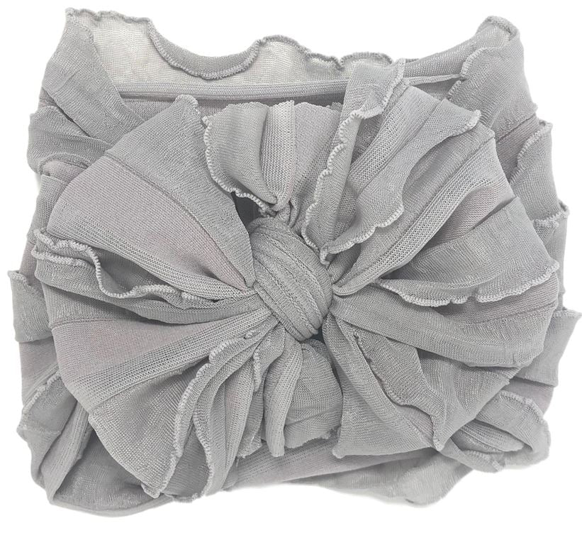 Ruffled Headband- Sterling