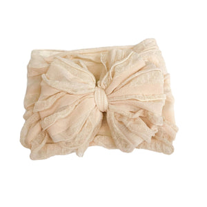 Ruffled Headband- Sugar Cookie