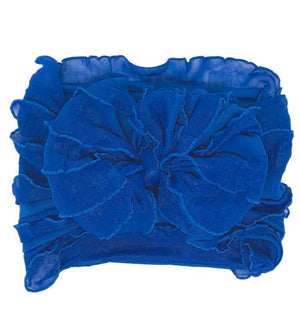 Ruffled Headband- Royal