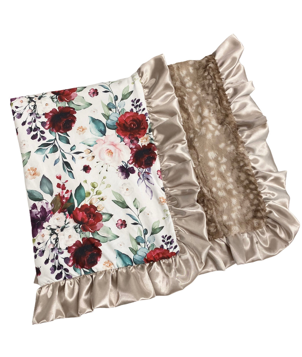 Lush Floral/ Fawn Blanket