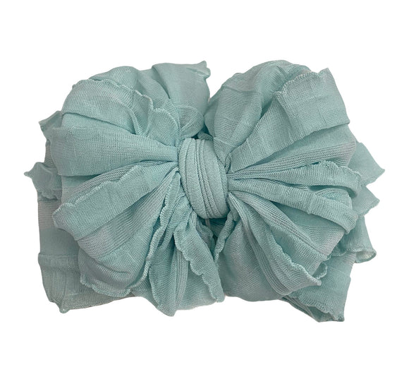 Ruffled Headband- Seafoam