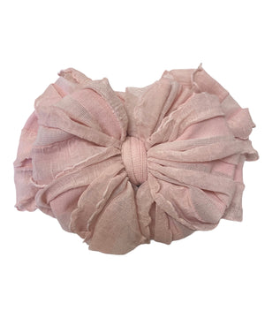 Ruffled Headband- Paris Pink