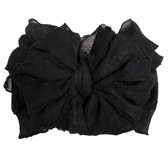 Ruffled Headband- Black