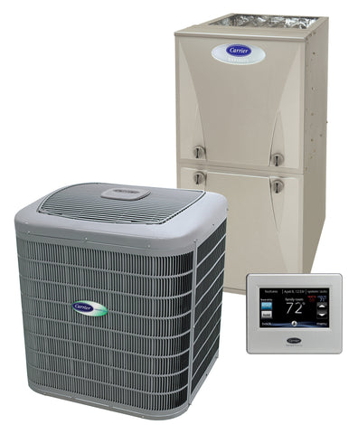 Carrier Infinity 2.5 Ton 16 Seer 80% Complete Gas System, Carrier Complete Gas System - DIY Comfort Depot