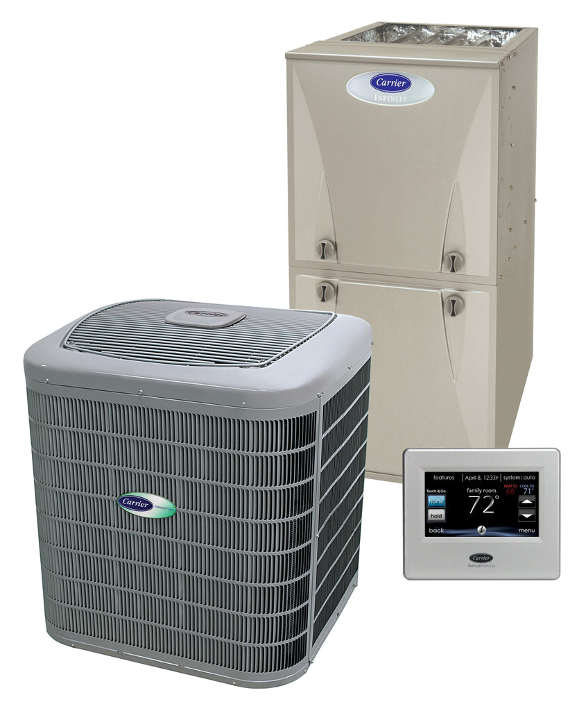 Carrier Infinity 2 Ton 16 Seer 80% Complete Gas System, Carrier Complete Gas System - Comfort Depot Gaithersburg