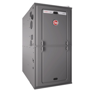"Rheem R801SA 80% AFUE Upflow/Horizontal Single Stage 100K BTU Gas Furnace with 21"" Cabinet, Rheem Natural Gas Furnace - Comfort Depot Gaithersburg"