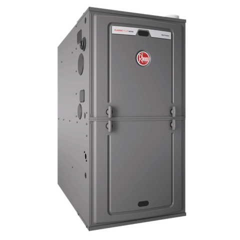 Rheem Variable Speed R802V 80% AFUE Two-Stage 125K BTU Gas, Rheem Natural Gas Furnace - Comfort Depot Gaithersburg