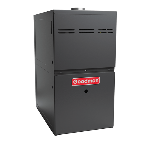 "Goodman 80K 80% 17.5"" Wide Single Stage Furnace, Goodman 80% Gas Furnace - DIY Comfort Depot"