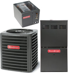 Goodman Complete Gas System Equipment Only Goodman 2 Ton 14 Seer 60K 80% Gas System